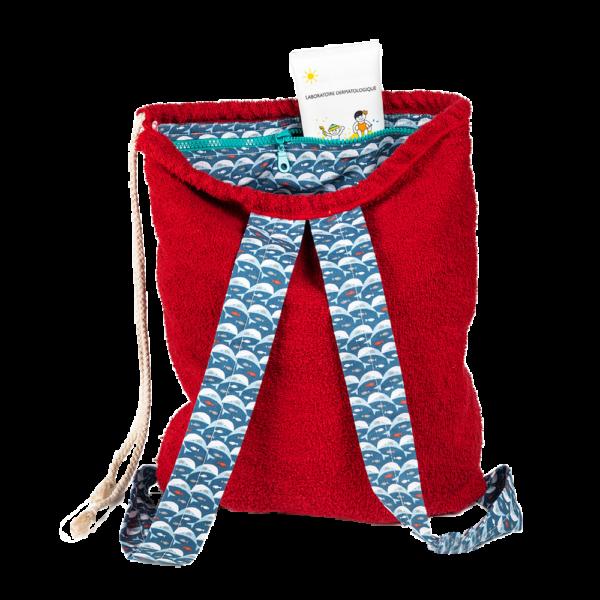 kid's beach towel backpack